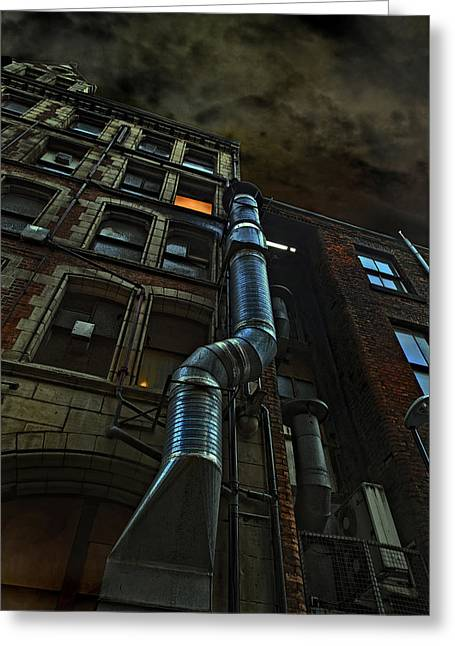 Batman Greeting Cards - Chinatown Alley Greeting Card by Mal Bray