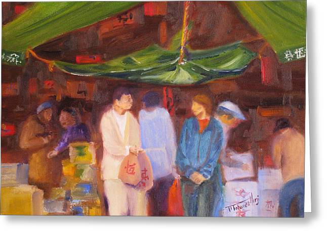 Chinese Market Greeting Cards - Chinatown  Vancouver Greeting Card by Mohamed Hirji