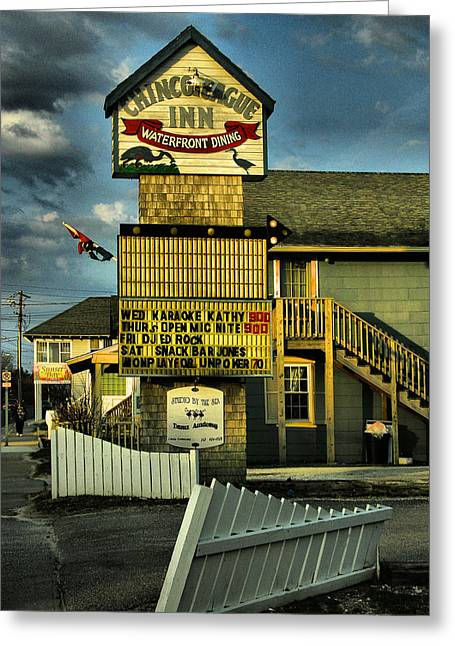 Old Inns Photographs Greeting Cards - Chincoteague Inn Greeting Card by Steven Ainsworth