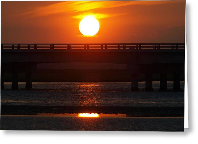 Calm Waters Tapestries - Textiles Greeting Cards - Chincoteague Island Bay Greeting Card by Kim