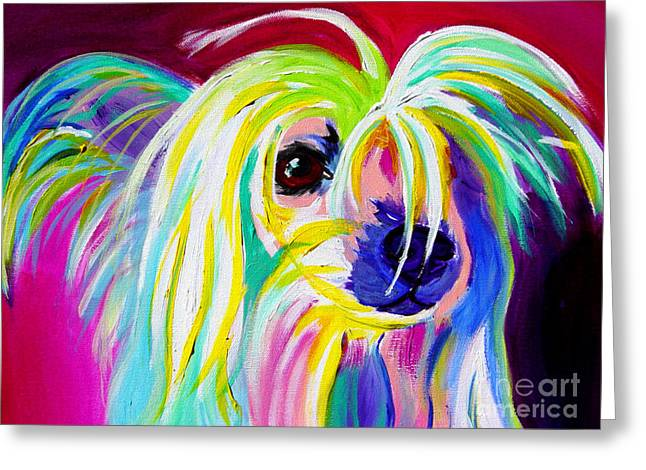 Alicia Vannoy Call Paintings Greeting Cards - Chinese Crested - Fancy Pants Greeting Card by Alicia VanNoy Call