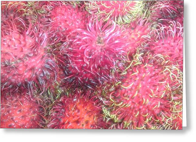 Chinese Plums  Greeting Card by Paul SEQUENCE Ferguson             sequence dot net