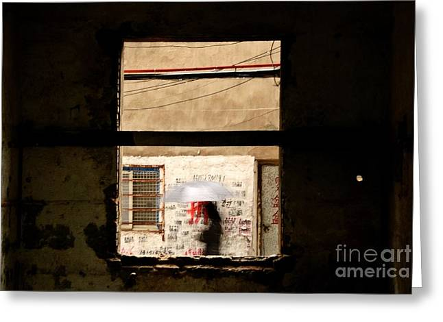 Hutong Greeting Cards - Chinese Whispers Greeting Card by Dean Harte