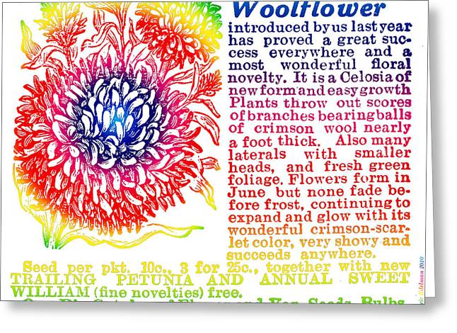 Out-of-date Digital Art Greeting Cards - Chinese Woolflower Greeting Card by Eric Edelman