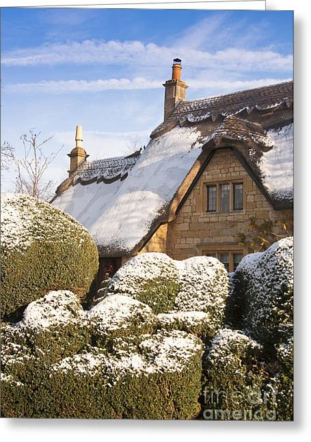 Vale Greeting Cards - Chipping Campden cottage Greeting Card by Andrew  Michael