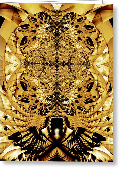Fractal Orbs Greeting Cards - Chiseled Orb Greeting Card by Frederic Durville