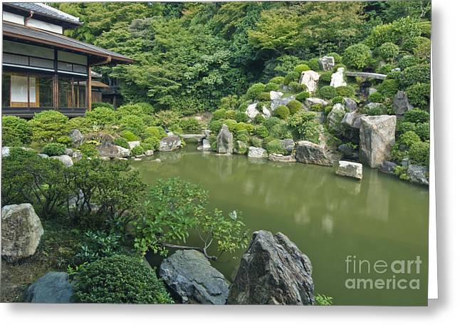 Kyoto Greeting Cards - Chishaku-in Temple Garden Greeting Card by Rob Tilley