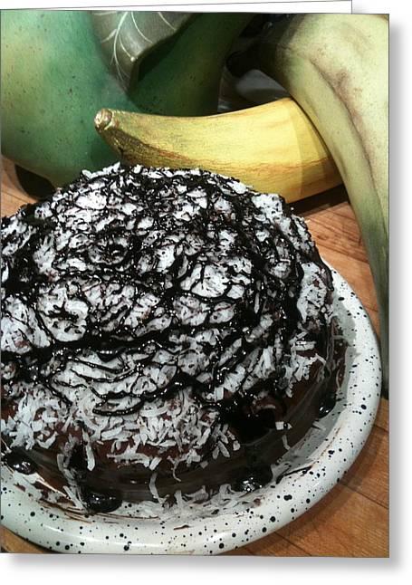 Soul Food Greeting Cards - Chocolate Coconut Cake Greeting Card by Paul Washington