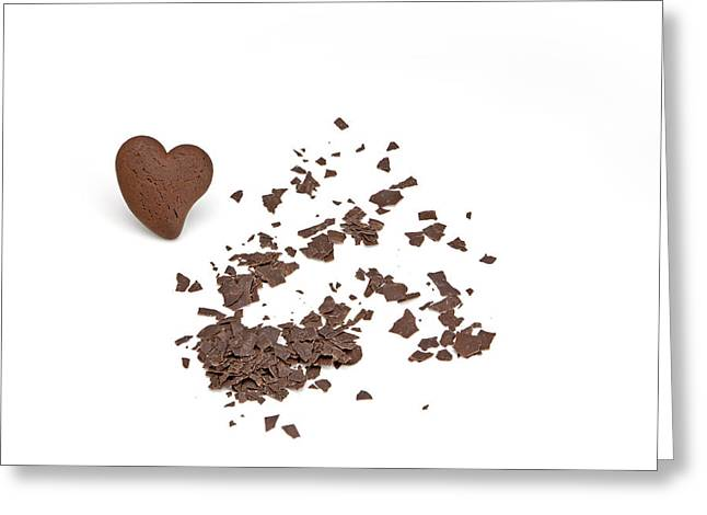 Grate Greeting Cards - Chocolate heart Greeting Card by Joana Kruse