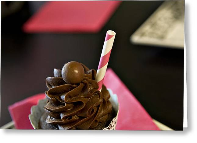 Chocolate Malt Greeting Card by Malania Hammer