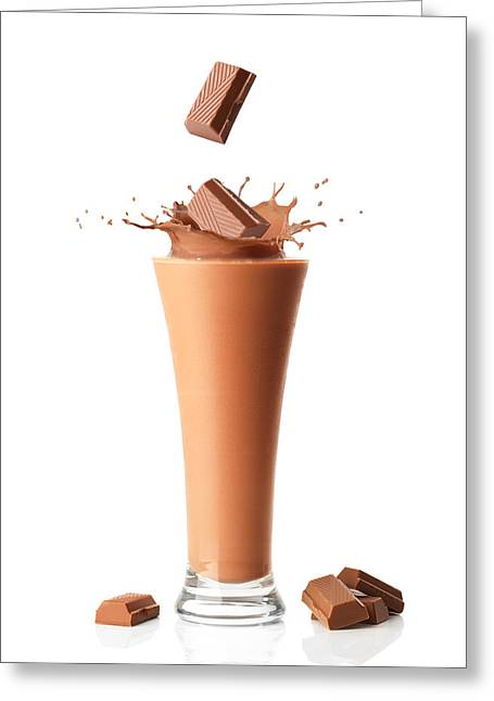 Smoothie Greeting Cards - Chocolate Milkshake Smoothie Greeting Card by Amanda And Christopher Elwell