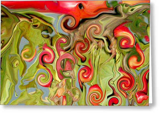 Fruit Tree Art Greeting Cards - ChokeCherry Abstract  Greeting Card by Michelle  BarlondSmith