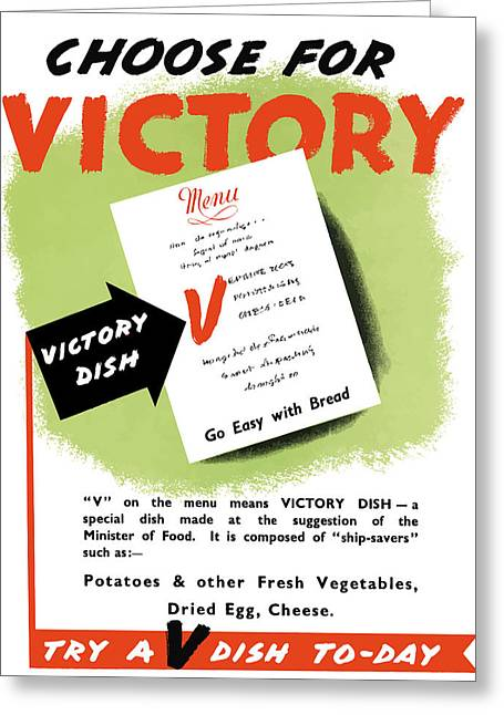 Food Store Greeting Cards - Choose For Victory  Greeting Card by War Is Hell Store