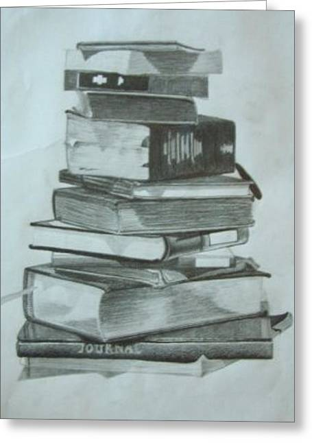 Stack Drawings Greeting Cards - Choose From the Best Books Greeting Card by Nathan Buhler