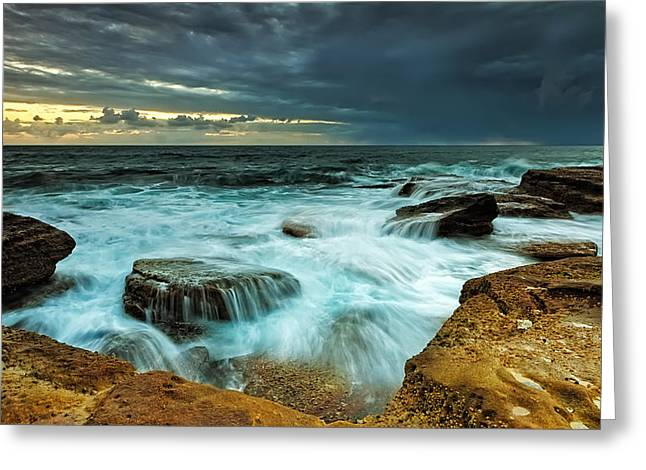 Choppy Water Greeting Cards - Choppy Greeting Card by Mark Lucey