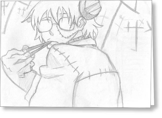 Stein Drawings Greeting Cards - Chopsticks Greeting Card by Kass Ezua