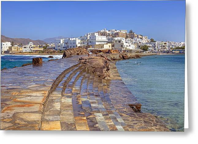 Castro Greeting Cards - Chora Naxos Greeting Card by Joana Kruse