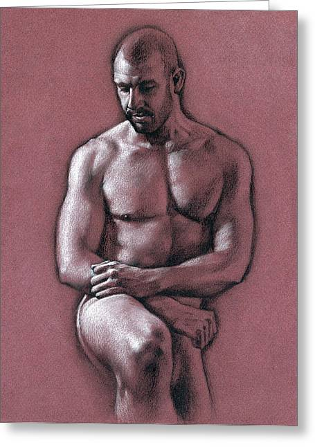 Realistic Drawings Greeting Cards - Chris 2 Greeting Card by Chris  Lopez