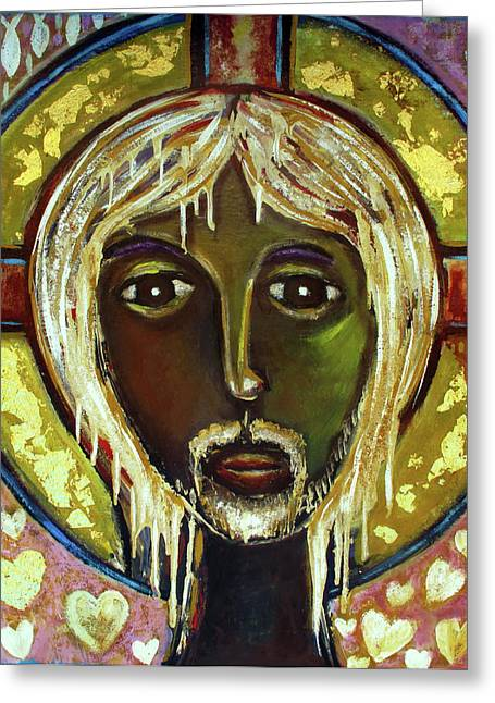 Russian Icon Paintings Greeting Cards - Christ Greeting Card by Andrew Osta