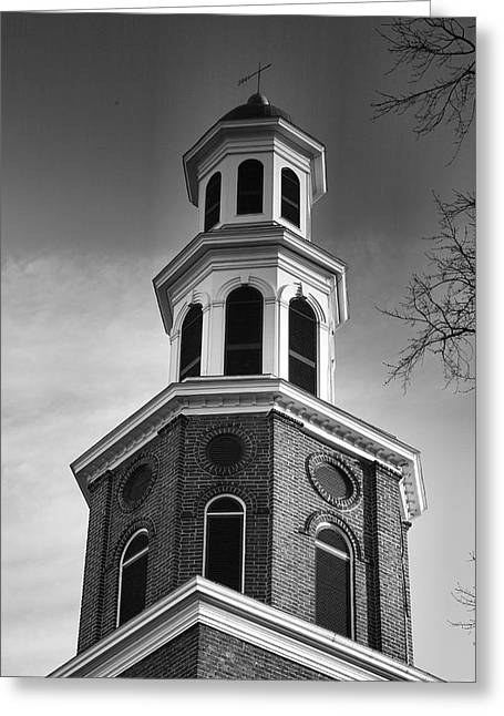 Old Christ Church Greeting Cards - Christ Church Bell Tower II Greeting Card by Steven Ainsworth