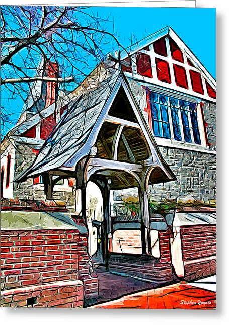 Jesus Sermon Greeting Cards - Christ Church of St Michaels Greeting Card by Stephen Younts