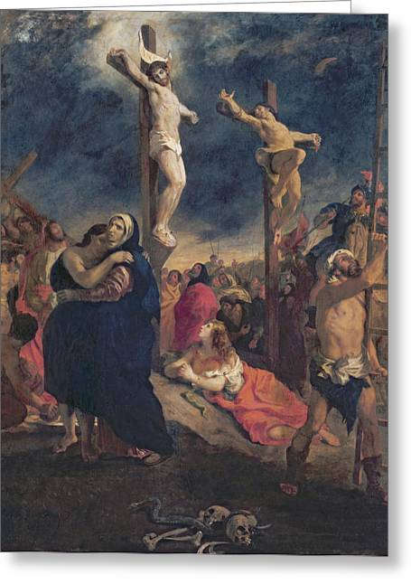 Jew Greeting Cards - Christ on the Cross Greeting Card by Delacroix