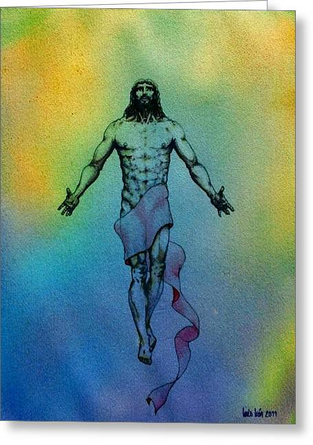 Testament Greeting Cards - Christ risen Greeting Card by Luis  Leon