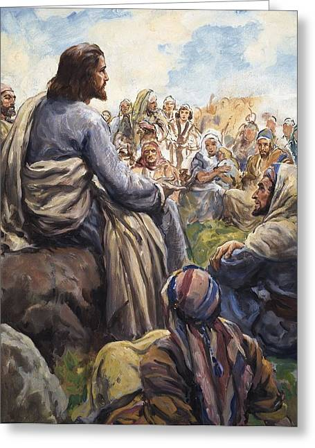 People. Talking Greeting Cards - Christ Teaching Greeting Card by English School