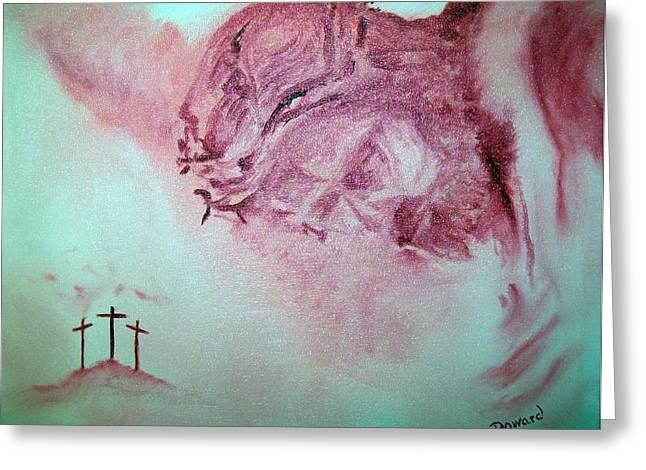Christ The Redeemer Greeting Card by Raymond Doward