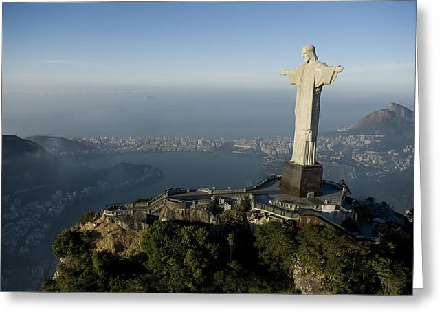 Characters And Scenes In History And The Arts Greeting Cards - Christ The Redeemer Statue Greeting Card by Joel Sartore