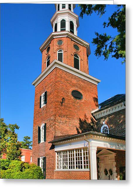 Old Christ Church Greeting Cards - Christchurch Bell Tower Greeting Card by Steven Ainsworth