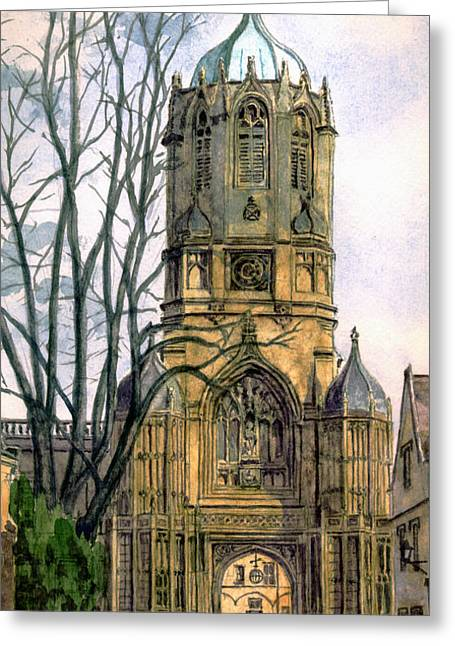 Henry Viii Greeting Cards - Christchurch College Oxford Greeting Card by Mike Lester