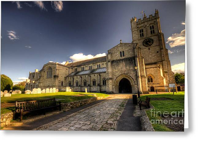 Minster Abbey Greeting Cards - Christchurch Priory Greeting Card by Rob Hawkins