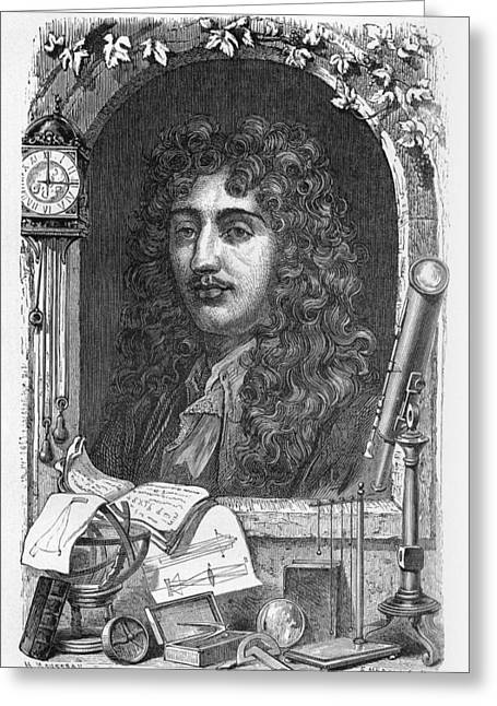 Savant Photographs Greeting Cards - Christiaan Huygens, Dutch Physicist Greeting Card by