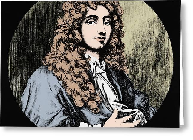 17th C Greeting Cards - Christiaan Huygens, Dutch Polymath Greeting Card by Omikron