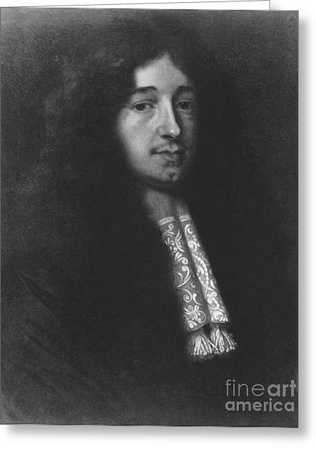 17th C Greeting Cards - Christiaan Huygens, Dutch Polymath Greeting Card by Photo Researchers