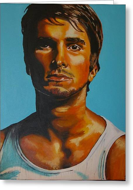 Christian Bale Greeting Cards - Christian Bale Greeting Card by Gracie Villareal