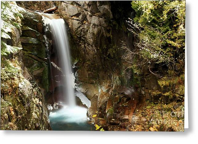 Christine Greeting Cards - Christine Falls Canyon Greeting Card by Adam Jewell