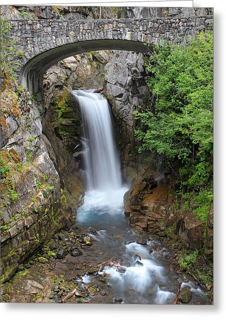 Paradise Meadow Greeting Cards - Christine Falls Rainier National Park Greeting Card by Pierre Leclerc Photography
