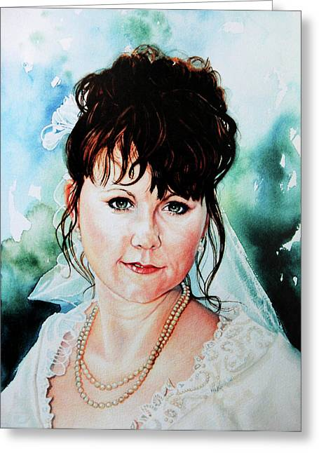 Christis Wedding Day Greeting Card by Hanne Lore Koehler