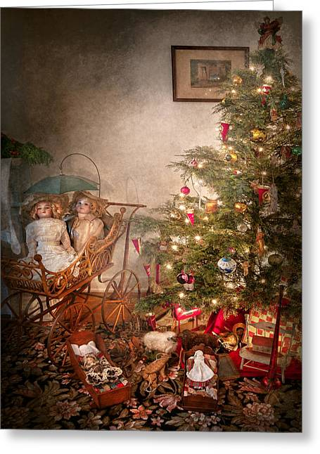 Chrismas Greeting Cards - Christmas - My first Christmas  Greeting Card by Mike Savad