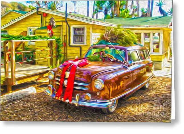 Christmas At Crystal Cove Greeting Card by Gregory Dyer