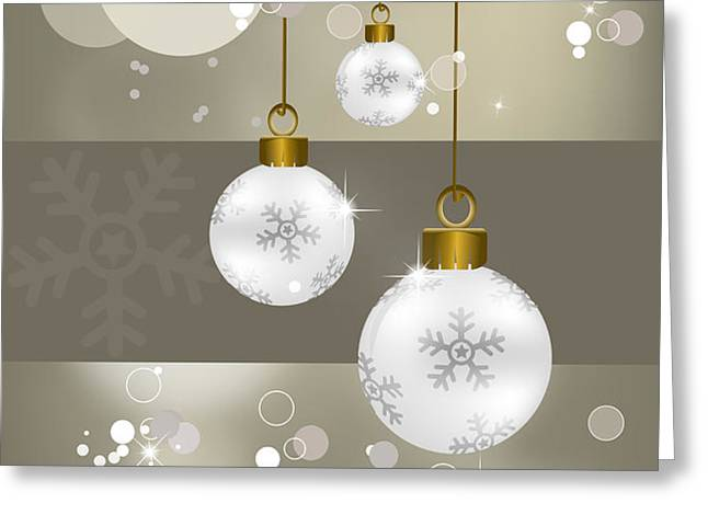 Christmas background   Greeting Card by Chih-Chung Johnny Chang