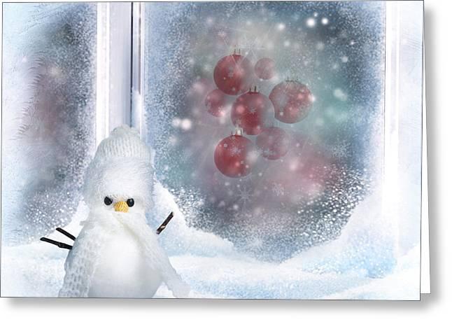 Christmas Background Greeting Card by Diana Nikolova