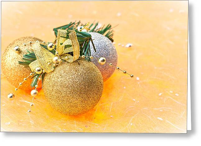 Magic Time Greeting Cards - Christmas bawbles Greeting Card by Tom Gowanlock