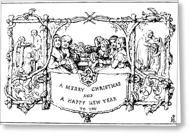 Cole Greeting Cards - Christmas Card, 1843 Greeting Card by Granger