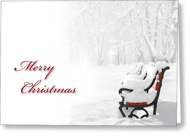 Snowy Roads Digital Art Greeting Cards - Christmas card Greeting Card by Jaroslaw Grudzinski