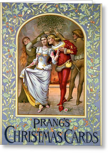 Romance Renaissance Greeting Cards - CHRISTMAS CARDS, c1886 Greeting Card by Granger