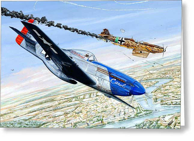 P-51 Greeting Cards - Christmas Carol Greeting Card by Charles Taylor