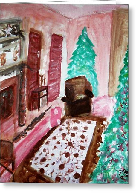 Cheer On Paintings Greeting Cards - Christmas Cheer Greeting Card by Stanley Morganstein